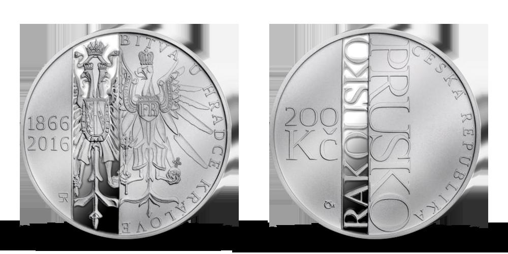 Stříbrná mince ČNB - 150. výročí Bitvy u Hradce Králové