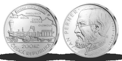 Stříbrná mince ČNB - 200. výročí narození Jana Pernera