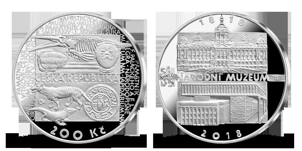 Stříbrná mince ČNB - 200. výročí založení Národního muzea