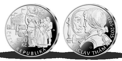 Stříbrná mince ČNB - 250. výročí narození Václava Tháma