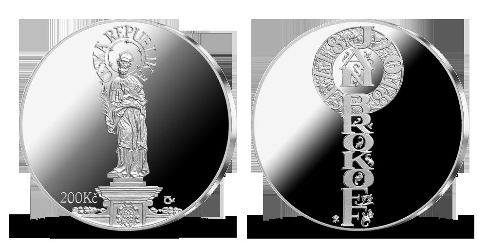 Stříbrná mince ČNB - 300. výročí úmrtí Jana Brokoffa