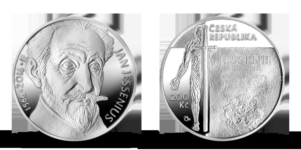 Stříbrná mince ČNB - 450. výročí narození Jana Jessenia