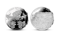 Stříbrná mince ČNB - 500. výročí vydání Klaudyánovy mapy