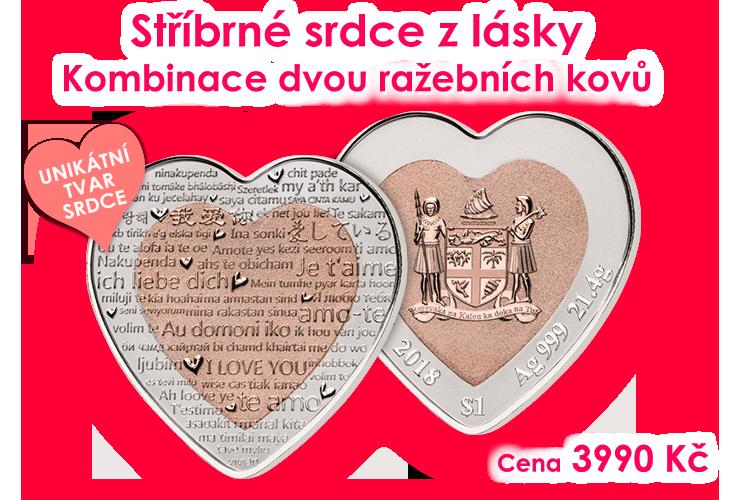 Stříbrné srdce z lásky