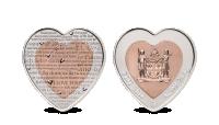 Stříbrné srdce z lásky - mince netradičně vyražená do dvou kovů