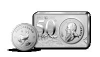 První střírný Krugerrand v historii ze 3 uncí ryzího stříbra