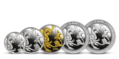 Unikátní sada legendárních stříbrných Sovereignů | Stříbrný Sovereign Stříbrná sada