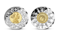 Staroměstský orloj na 2 uncích ryzího stříbra