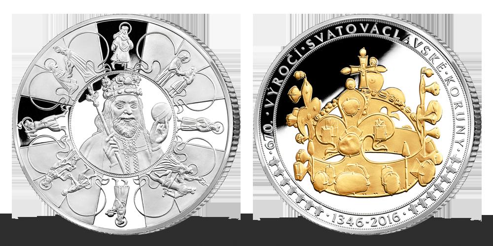 Symbol českých králů zušlechtěný ryzím zlatem a stříbrem
