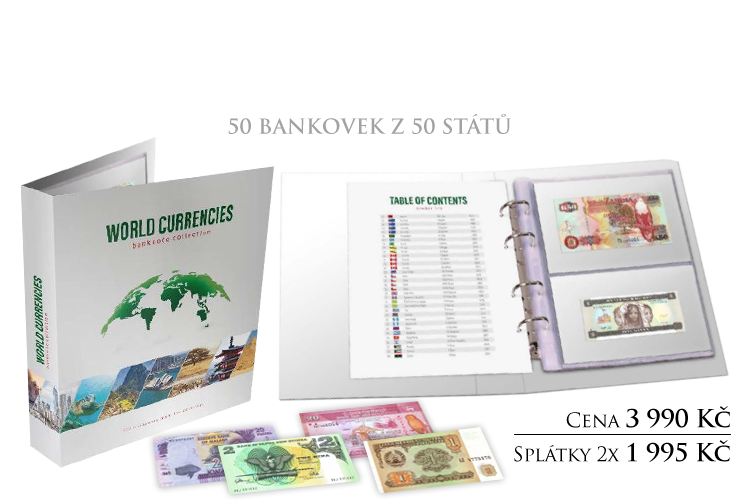 Světové měny - velké album plné bankovek