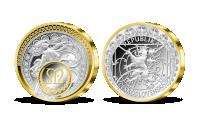 Tanec vpodání Alfonse Muchy - stříbrná 5 oz medaile s31 krystaly Swarovski
