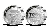 T. G. Masaryk na medaili z 1 kilogramu ryzího stříbra