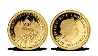 Tichá noc - vánoční mince z ryzího zlata 999/1000