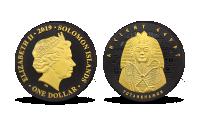 Tutanchamon mince zušlechtěna niklem a zlatem