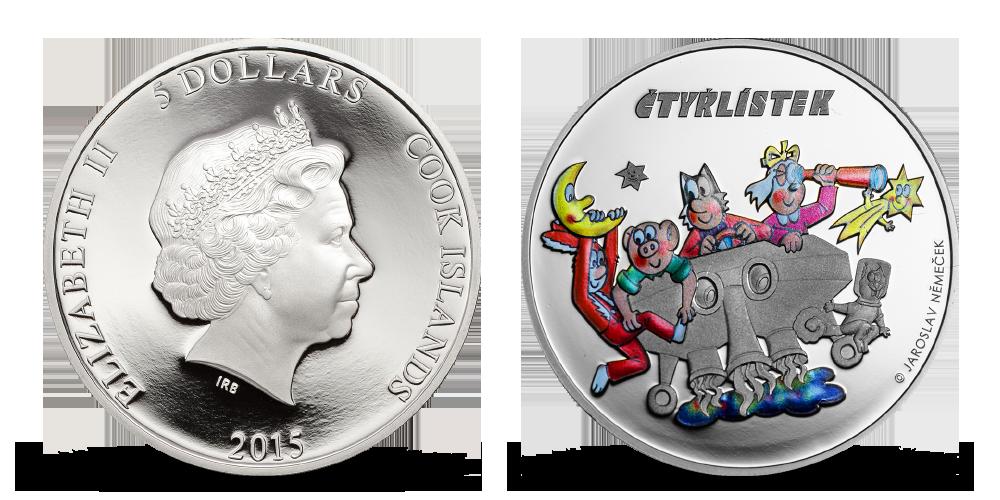 Čtyřlístek UFO - 3 unikátní mince oslavující oblíbený český komiks