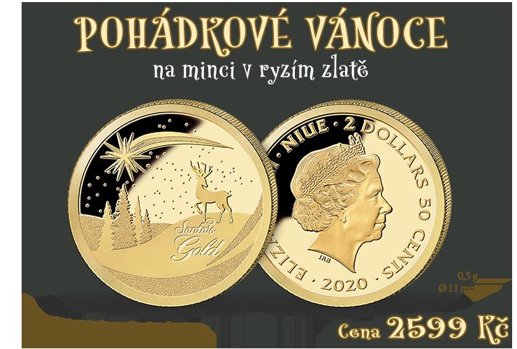 Veselé Vánoce na zlaté minci 0,5 g