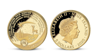 Veselé Vánoce na minci z 1/10 oz ryzího zlata (Au 999/1000)