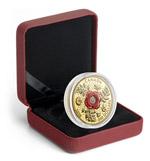 Vlčí mák na minci z ryzího zlata - elegantní box