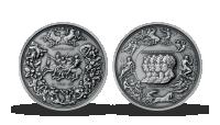 200. výročí bitvy u Waterloo mistrovské dílo od Benedetta Pistrucciho na stříbrné medaili