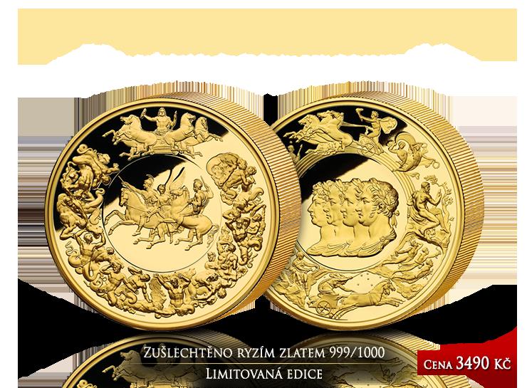 Medaile Waterloo dokončena po 200 letech – legenda numismatiky zušlechtěna ryzím zlatem