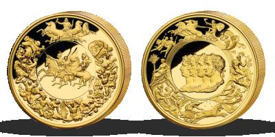 Medaile Waterloo dokončena po 200 letech – legenda numismatiky zušlechtěna ryzím zlatem | 200 let od legendární bitvy Waterloo na medaili
