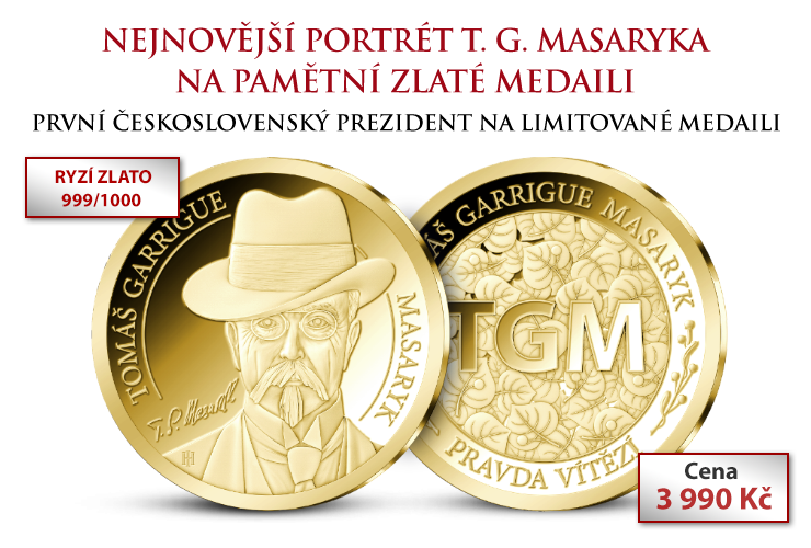 Tomáš Garrigue Masaryk na zlaté medaili