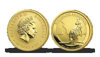 Australský klokan na zlaté minci