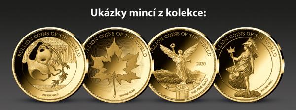 Ukázky mincí z kolekce