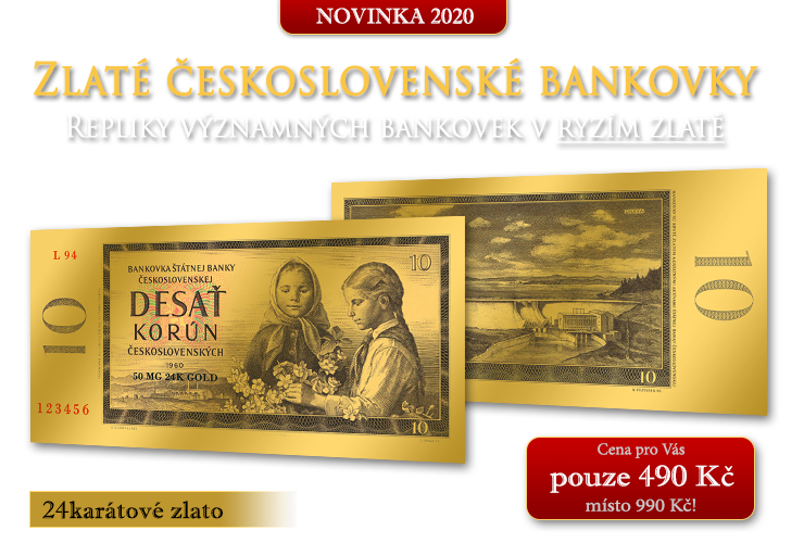 Zlaté československé bankovky