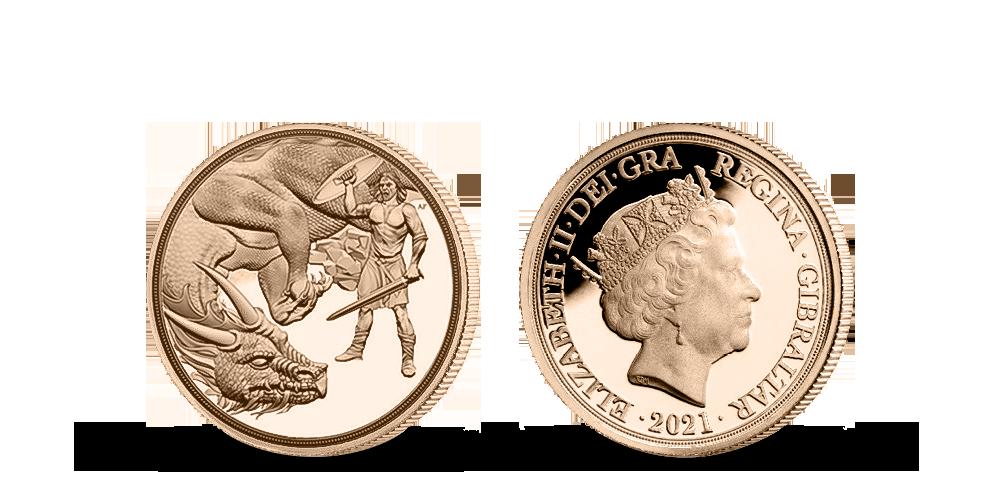 Zlatý 1/4 Sovereign 2021