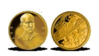 Edvard Beneš ve 14karátovém zlatě
