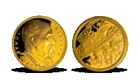 Tomáš Garrigue Masaryk ve 14karátovém zlatě