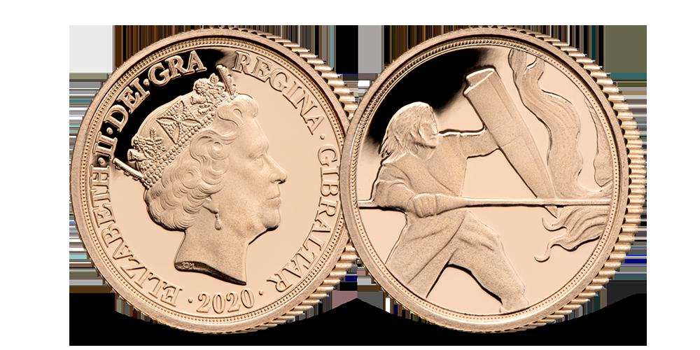Zlatý Quarter sovereign - unikátní výjev svatého Jiří na tradiční minci