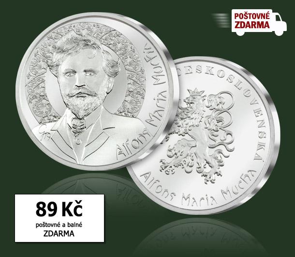 Jubilejní pamětní medaile Alfons Maria Mucha za 89 Kč. Poštovné a balné je pro Vás zdarma!