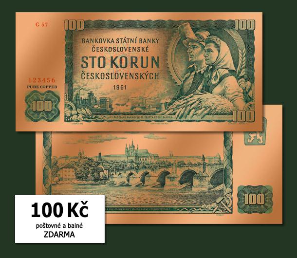 Replika legendární stokoruny pro Vás jen za 100 Kč!