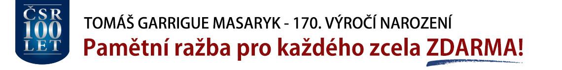 Pamětní ražba T. G. Masaryk zcela ZDARMA. Také poštovné a balné platíme za vás!