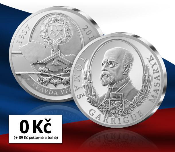 Pamětní medaile T. G. Masaryk pro každého Čecha zdarma