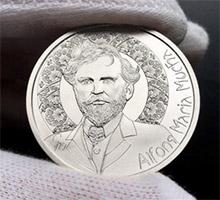 Alfons Mucha - pamětní medaile zdarma