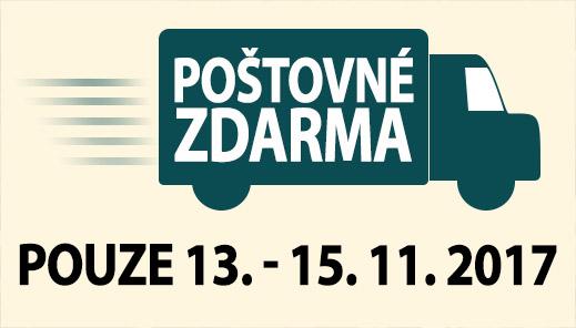 Poštovné zdarma, 13. - 15. 11. 2017